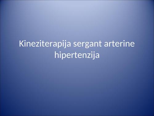kokios kineziterapijos procedūros galimos sergant hipertenzija